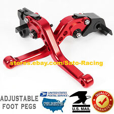 US For Suzuki GSX600/750 KATANA 1989-2006 Brake Clutch Lever Set Red 2005 2004