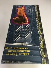 ORIGINAL ARLO EISENBERG WORLD CHAMPION IN-LINE STREET POSTER SIGNED