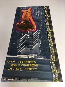 ORIGINAL ARLO EISENBERG WORLD CHAMPION IN-LINE STREET POSTER SIGNED