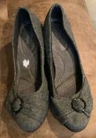 "Dexflex Comfort Womens Grey/Black Wedge 2"" Heel Shoes Size US 10  Beautiful!"