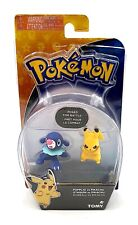 Pokemon Battle Posed Action Figure PIKACHU vs POPPLIO TOMY