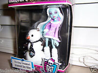 Monster High ABBEY With Snowman ORNAMENT Christmas Winter Holiday New In Box