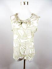 FRANK WALDER Women's Casual Summer Floral Lace Sleeveless Blouse Top sz 16 BD93
