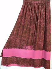 Sk117~Tienda Ho~PINK~Double Hem~EMBROIDERED~Rayon~TRIBAL~A-line Skirt~OS M L XL?