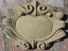 Schild Tafel Wandtafel klein Wandbild Antik Look Kunst Sandstein F 16 GRAU