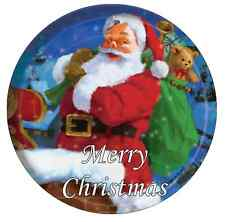 """Santa Clause Merrry Christmas Personalised Cake Topper 7.5"""" Edible Wafer Paper"""
