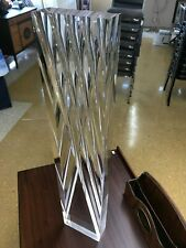 """Vintage Alessio Tasca Modern Acrylic Lucite Sculpture 28 ½"""" Made in Italy"""