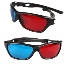 3D Vision Glasses Red Blue Dimensional Anaglyph Framed Plasma TV Movie DVD Game