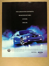 2004 Ford Mustang blue car photo vintage print Ad