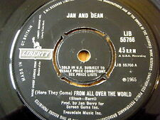 "JAN & DEAN - (HERE THEY COME) FROM ALL OVER THE WORLD  7"" VINYL"