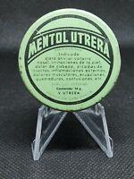 Vintage Medicine Tin: Mentol Utrera Unguento, Venezuelan tin, scarce, rare, full