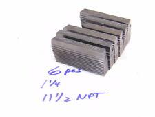 Used 6pcs Landis Thread Chasers 1 14 X 11 12 X Npt Form X Random Lengths