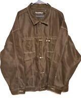 Pelle Pelle Denim Black Jacket: Marc Buchanan  Embroidered Buckle Label Sz 3XL