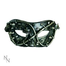 Nemesis Now Steampunk Mechanical Studded Facade mask Masquerade Cyber Goth