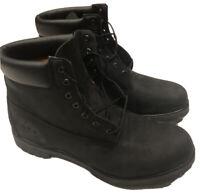 "Timberland Size 18 M Black Boots 6"" Premium Nubuck 10073 Primaloft Insulated ⭐"