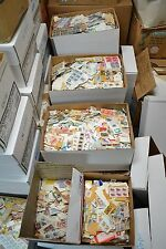 1 Pound Misc Stamps On Paper. Singles-Old-New-Mainly US-Some World