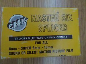Craig Master Six Splicer The Kalart Co Inc. 8mm 16mm