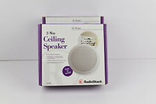Brand New 2PC RADIO SHACK - 2 WAY CEILING SPEAKER 5 1/4 WOOFER 20W RMS 40W MAX