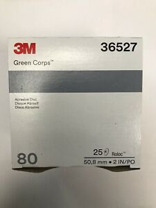 """3M Green Corps Roloc Grinding Discs 2"""" 80 Grit 3M 36527 replacement for 3M 01396"""