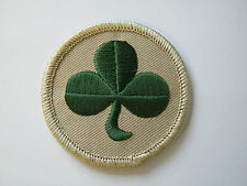 38th (Irish) Brigade TRF - Desert Beige / Green Shamrock  Military Cloth Patch