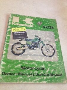 Kawasaki KX125 A5 KX 125 Revisión Técnica Manual Taller Workshop Servicio