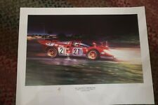 MARIO ANDRETTI Signed 18 x 24 Poster, Sebring winning Ferrari, 1970