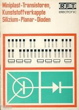 VEB RFT semiconduttori fabbrica Francoforte miniplast TRANSISTORI DIODI PROSPEKT 1968