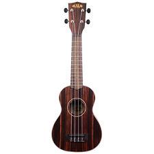 Kala Ebony Soprano Ukulele Right-Hand Uke w/ Rosewood Fingerboard Aquila Strings