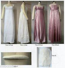 Ladies Regency Bodiced Petticoat, Bum Roll 4-34 Laughing Moon Sewing Pattern 132