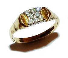 Completamente marcata 18ct e Diamante FANCY Anello con sigillo (misure UK: N)
