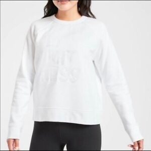 Athleta XXS White Limitless Sweatshirt NWOT