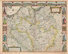 1676 John Speed Map of Poland