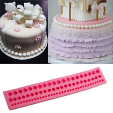 String Of Pearl Mould  Paste Bead Fondant Cake Silicone Clay Mould Decoration FR