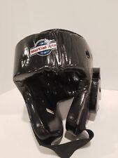 Martial Arts Protective Head Gear black - Sparring Karate Taekwondo Size Small