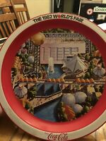 1982 Worlds Fair Coca Cola Tin Tray - Knoxville, TN - EXCELLENT CONDITION