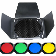 GODOX - BARNDOOR HONEY COMB # BD-04 KIT  WITH FOUR COLOR INSERTS (B41)