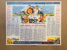 CALENDRIER COEURS VAILLANTS 1951 - TBE