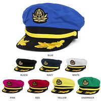 Adjustable Gold Color Embroidery Leafs and Patch Flagship Captain Hat - FREESHIP