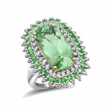 Natural Namibian Tourmaline 6.83 carats set in 14K White and Yellow Gold Ring