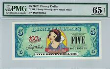 Disney Dollar 2002 $5 Snow White D00039583A PMG 65 EPQ Gem Unc