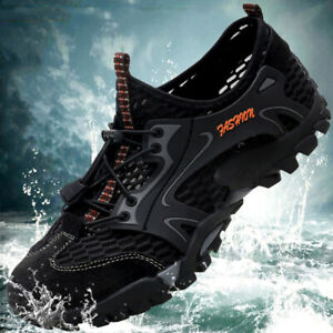 Mens Breathable Outdoor Climbing Water Shoes Hiking Non-slip Waterproof Sneakers