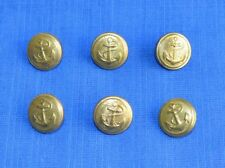 Bulgarian NAVY Marine Parade Uniform Shoulder Pieces BUTTONS 6 Pcs.