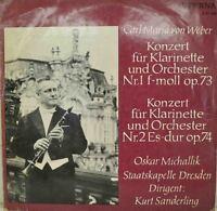 """De Weber - Konzert Pour Clarinette Et Orchestre NR.1 F-Moll OP.73 12 """" LP (W"""