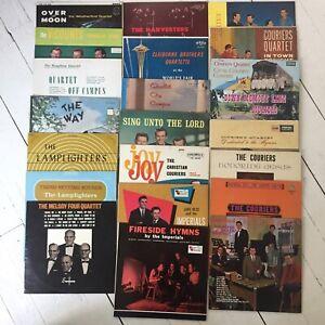 Christian Gospel Quartets Vinyl Record Lot Couriers Jake Hess & Imperials More