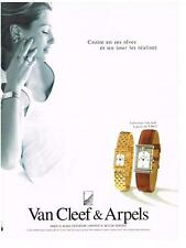 PUBLICITE ADVERTISING  1989  VAN CLEEF & ARPELS  montre collection Façade