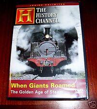 WHEN GIANTS ROAMED Steam Trains Railroad Railroads Train History Channel DVD NEW
