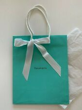 """Authentic TIFFANY&CO Blue 10""""x8"""" Tote Shopping PAPER BAG+GIFT Wrap RIBBON&Tissue"""