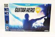 Guitar Hero Live WiiU Wii U Guitar, Dongle, Strap, Rechargeable Battery & Game