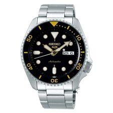 Seiko 5 Sports Full SS Black Gold Bezel 42.5mm Automatic Watch SRPD57K1