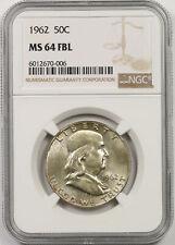 1962 Franklin Half Dollar 50C MS 64 FBL Full Bell Lines NGC